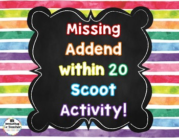Missing Addend within 20 Scoot Game {CC Aligned}