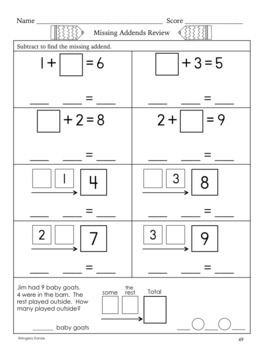 Missing Addends for Special Education and Intervention