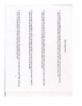 Missing Addends 2 Step Sentences Word Problems Plans Assessment