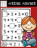 Adding 3 Numbers - Missing Addends