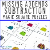 Missing Addends Subtraction 0-20 Math Center Game | Missin