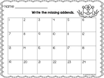 Missing Addends Task Cards-Missing Addends Center Activity