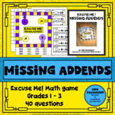 Missing Addends Addition Game