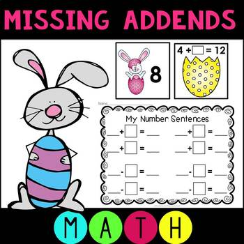 Missing Addends Addition and Subtraction Easter Egg Themed