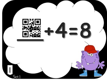 Missing Addends- Addition and Subtraction QR Code Task Cards