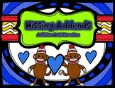 Missing Addends (Addition and Subtraction) Sock Monkey Theme