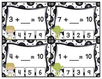 Missing Addends Addition to 10