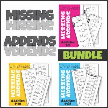 Missing Addend Worksheets BUNDLE