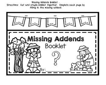 Missing Addends Booklet