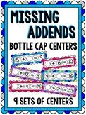 Missing Addends Games Bottle Cap Centers BUNDLE