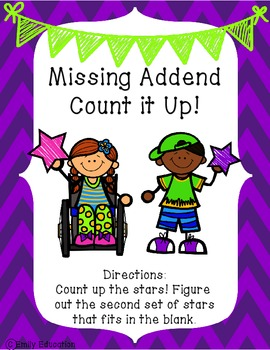 Missing Addends Centers {Addition}