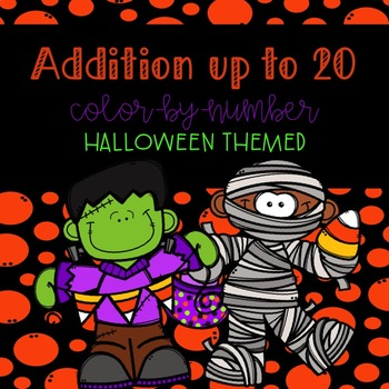 Addition to 20 Color-By-Number Halloween themed