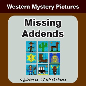 Missing Addends - Color-By-Number Mystery Pictures