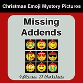 Missing Addends - Color-By-Number Christmas Math Mystery Pictures
