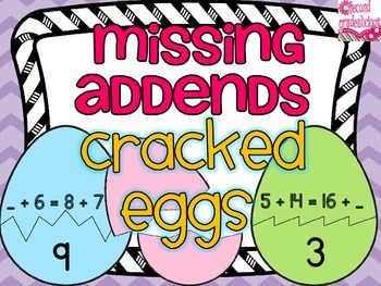 Missing Addends Cracked Eggs Match Up
