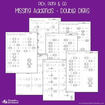 Related Addition And Subtraction Worksheet, 2 Digit Addition With Missing Addend