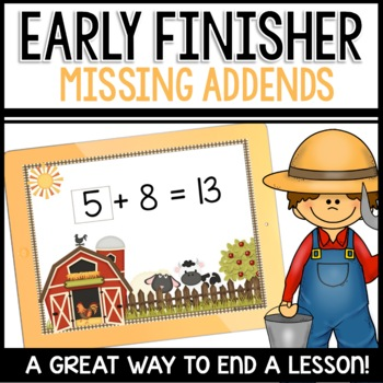 Missing Addends   Early Finisher