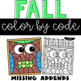 Missing Addends Fall Color by Number