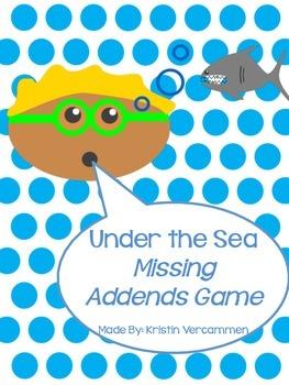 Missing Addends File Folder Game