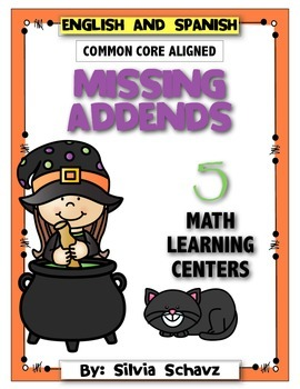 Missing Addends: Five Math Learning Centers for Halloween