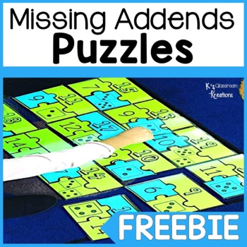 1.OA.8 Missing Addends Puzzle Freebie