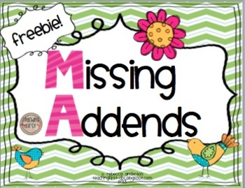 Missing Addends Freebie!!