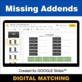 Missing Addends - Google Slides - Distance Learning - Digi