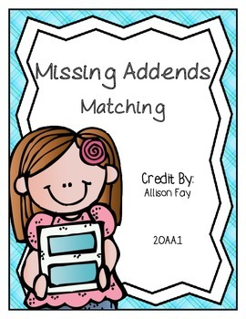 Missing Addends Matching Part Part Whole