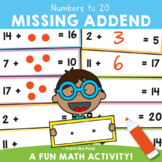Missing Addends - Math Activity Cards