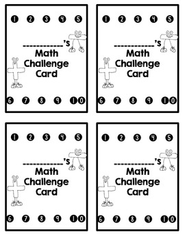 Missing Addends Math Challenges for Early Finishers