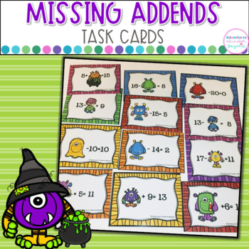 Missing Addends- Monster Madness