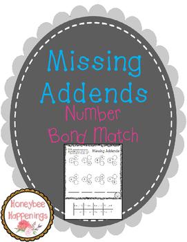 Missing Addends - Number Bond Match