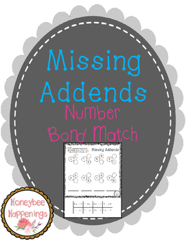Missing Addends - Number Bond Match