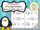 Missing Addends Penguins for Sums of 3 to 10 + Review (15