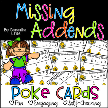 Missing Addends {Poke Cards}