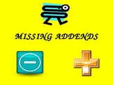 Missing Addends Power Point (Common Core)