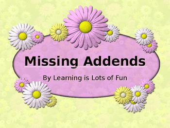 Missing Addends Powerpoint