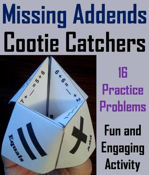 Missing Addends Game/ Addition Fact Fluency/ Addition Fact