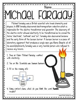 Michael Faraday Reading Passage