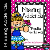 Missing Addends Worksheets  May Morning Work