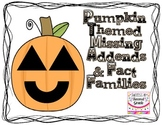 Missing Addends--Pumpkin Themed