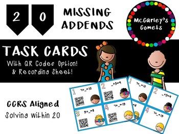Missing Addends QR Task Cards