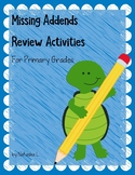 Missing Addends Review Activities