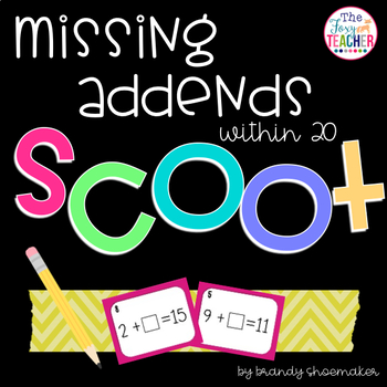 Missing Addends SCOOT! Task Cards: Addition & Subtraction