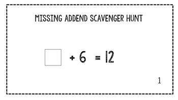 Missing Addends Scavenger Hunt