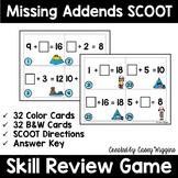 Missing Addends SCOOT, Task Cards, Assessment
