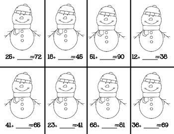 Missing Addends Snowmen {FREEBIE}