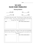Missing Addends Story Problems