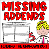 Missing Addends Story Problems with Addition and Subtraction