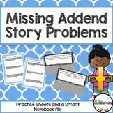 Missing Addends Story Problems Pack